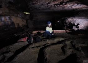 Sherron In a cave